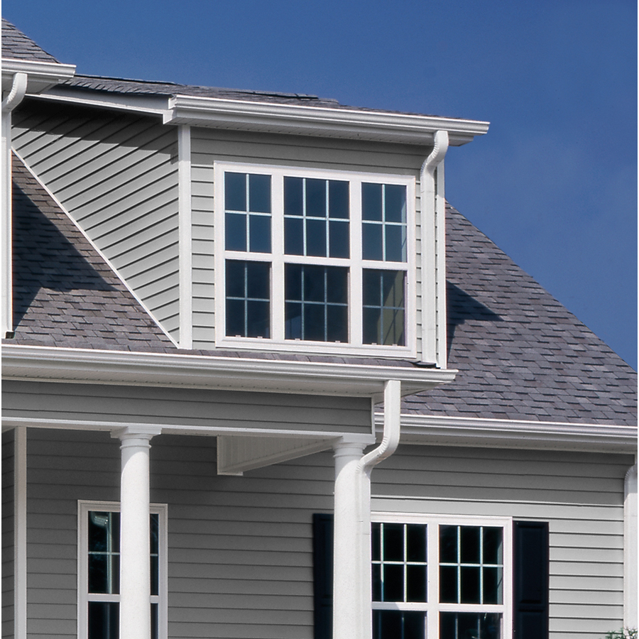 Georgia Pacific Vision Pro Vinyl Siding Panel Double 4 Dutch Lap Gray 8 In X 150 In In The Vinyl Siding Panels Department At Lowes Com