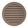 22-in x 2.5-in Hearthstone Brown Round Vinyl Gable Vent