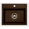 Jacuzzi Chocolate Metallic 1-Hole Granite Sink