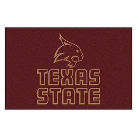 FANMATS 1-ft 7-in x 2-ft 6-in Rectangular NCAA Texas State Bobcats Accent Rug