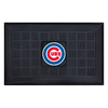 FANMATS 19-in x 30-in Black Chicago Cubs Rectangular Door Mat