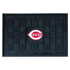 FANMATS 30-in x 19-in Black Rectangular Door Mat