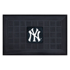 FANMATS 19-in x 30-in Black New York Yankees Rectangular Door Mat