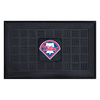 FANMATS 19-in x 30-in Black Philadelphia Phillies Rectangular Door Mat