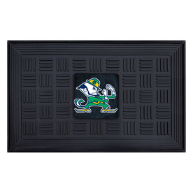 FANMATS Black with Official Team Logos and Colors Rectangular Door Mat (Common: 19-in x 30-in; Actual: 19-in x 30-in)