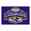 FANMATS 1-ft 7-in x 2-ft 6-in Rectangular NFL Baltimore Ravens Accent Rug