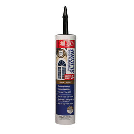 DuPont 9.8-oz Black Silicone Window and Door Caulk