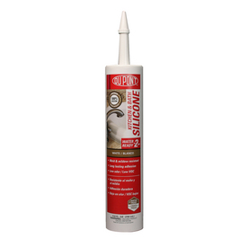 DuPont 9.8 oz White Silicone Kitchen and Bathroom Caulk