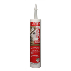 DuPont 9.8 oz Clear Silicone Kitchen and Bathroom Caulk