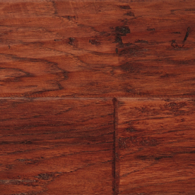 LM Flooring Cabin Creek 5-in W x 48-in L Hickory Engineered Hardwood Flooring 77K82L