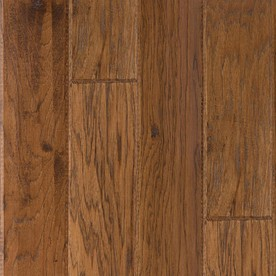 LM Flooring 0.377-in Hickory Locking Hardwood Flooring Sample (Autumn)