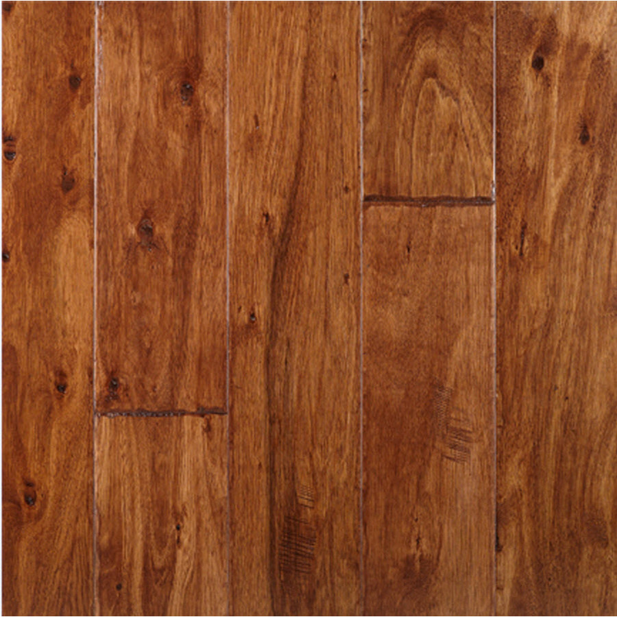 Shop lm flooring 5 in w prefinished eucalyptus engineered for Prefinished flooring