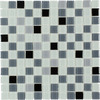 Elida Ceramica Glass Mosaic Silver Multicolor Uniform Squares Mosaic Glass Wall Tile (Common: 12-in x 12-in; Actual: 11.75-in x 11.75-in)