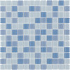 Elida Ceramica Glass Mosaic Baby Blue Multicolor Uniform Squares Mosaic Glass Wall Tile (Common: 12-in x 12-in; Actual: 11.75-in x 11.75-in)