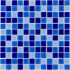 Elida Ceramica Glass Mosaic Blue Multicolor Uniform Squares Mosaic Glass Wall Tile (Common: 12-in x 12-in; Actual: 11.75-in x 11.75-in)