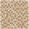 Elida Ceramica Romano Uniform Squares Mosaic Stone and Glass Travertine Wall Tile (Common: 12-in x 12-in; Actual: 11.75-in x 11.75-in)