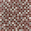 Elida Ceramica 1 Cherry Uniform Squares Mosaic Stone and Glass Marble Wall Tile (Common: 12-in x 12-in; Actual: 11.75-in x 11.75-in)