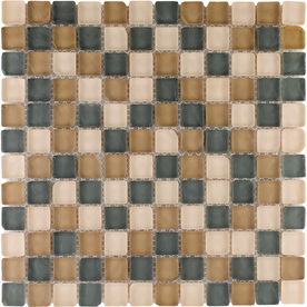 "Elida Ceramica 12"" x 12"" Mosaic Tumbled Natural Glass Wall Tile"