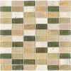 Elida Ceramica 12-in x 12-in Kaki Brick Glass Wall Tile