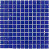 Elida Ceramica Cobalt Oil Uniform Squares Mosaic Glass Wall Tile (Common: 12-in x 12-in; Actual: 11.75-in x 11.75-in)