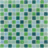 Elida Ceramica Mint Oil Uniform Squares Mosaic Glass Wall Tile (Common: 12-in x 12-in; Actual: 11.75-in x 11.75-in)