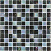 Elida Ceramica Black Oil Uniform Squares Mosaic Glass Wall Tile (Common: 12-in x 12-in; Actual: 11.75-in x 11.75-in)