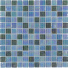 Elida Ceramica Glass Mosaic Silver Oil Uniform Squares Mosaic Glass Wall Tile (Common: 12-in x 12-in; Actual: 11.75-in x 11.75-in)