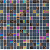 Elida Ceramica Zodiac Uniform Squares Mosaic Glass Wall Tile (Common: 13-in x 13-in; Actual: 12.75-in x 12.75-in)