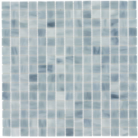 Elida Ceramica 13-in x 13-in Glass Mosaic Silver Cloud Glass Wall Tile
