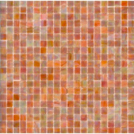 Elida Ceramica 13-in x 13-in Coral Reef Glass Mosaic Square Wall Tile