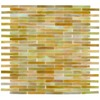 Elida Ceramica 13-in x 14-in Glass Mosaic Onyx Brick Glass Wall Tile