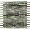Elida Ceramica 13-in x 14-in Glass Mosaic Jade Brick Glass Wall Tile