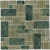 Elida Ceramica 12-in x 12-in Verdi Slate Glass Wall Tile