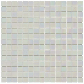 Elida Ceramica Glass Mosaic Pearl Glass Mosaic Square Wall Tile (Common: 13-in x 13-in; Actual: 12.75-in x 12.75-in)