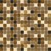 Elida Ceramica 13-in x 13-in Glass Mosaic Multi Grain Glass Wall Tile