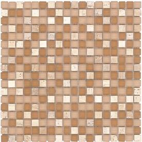 Elida Ceramica 12-in x 12-in Romano Stone Glass Wall Tile