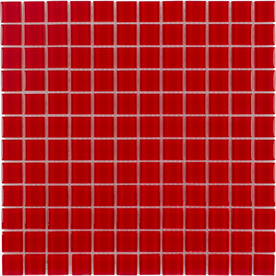Elida Ceramica 12-in x 12-in Red Coral Glass Wall Tile