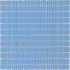 Elida Ceramica Glass Mosaic Baby Blue Uniform Squares Mosaic Glass Wall Tile (Common: 12-in x 12-in; Actual: 11.75-in x 11.75-in)