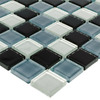 Elida Ceramica Charcoal Glass Mosaic Square Indoor/Outdoor Wall Tile (Common: 12-in x 12-in; Actual: 11.75-in x 11.75-in)