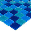 Elida Ceramica Ocean Uniform Squares Mosaic Glass Wall Tile (Common: 12-in x 12-in; Actual: 11.75-in x 11.75-in)