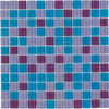 Elida Ceramica 12-in x 12-in Pop Blue Glass Wall Tile