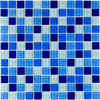 Elida Ceramica Glass Mosaic Cielo Uniform Squares Mosaic Glass Wall Tile (Common: 12-in x 12-in; Actual: 11.75-in x 11.75-in)