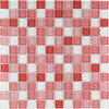 Elida Ceramica Glass Mosaic Baby Girl Uniform Squares Mosaic Glass Wall Tile (Common: 12-in x 12-in; Actual: 11.75-in x 11.75-in)