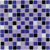 Elida Ceramica 12-in x 12-in Ultra Violet Glass Wall Tile