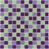 Elida Ceramica Glass Mosaic Purple Hope Uniform Squares Mosaic Glass Wall Tile (Common: 12-in x 12-in; Actual: 11.75-in x 11.75-in)