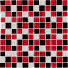 Elida Ceramica Glass Mosaic Beep Bop Love Uniform Squares Mosaic Glass Wall Tile (Common: 12-in x 12-in; Actual: 11.75-in x 11.75-in)