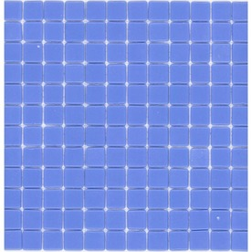 Elida Ceramica Recycled Happy Blue Glass Mosaic Square Indoor/Outdoor Wall Tile (Common: 12-in x 12-in; Actual: 12.5-in x 12.5-in)