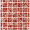 Elida Ceramica 12-1/2-in x 12-1/2-in Recycled Glass Mosaic Tomato Glass Wall Tile