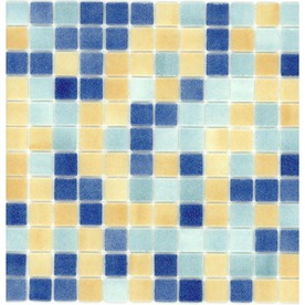 Elida Ceramica Recycled Beach Glass Mosaic Square Indoor/Outdoor Wall Tile (Common: 12-in x 12-in; Actual: 12.5-in x 12.5-in)
