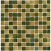 Elida Ceramica 12-1/2-in x 12-1/2-in Recycled Glass Mosaic Mohave Gold Glass Wall Tile